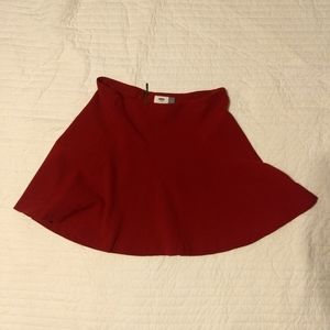 Old Navy Dark Red Skater Skirt